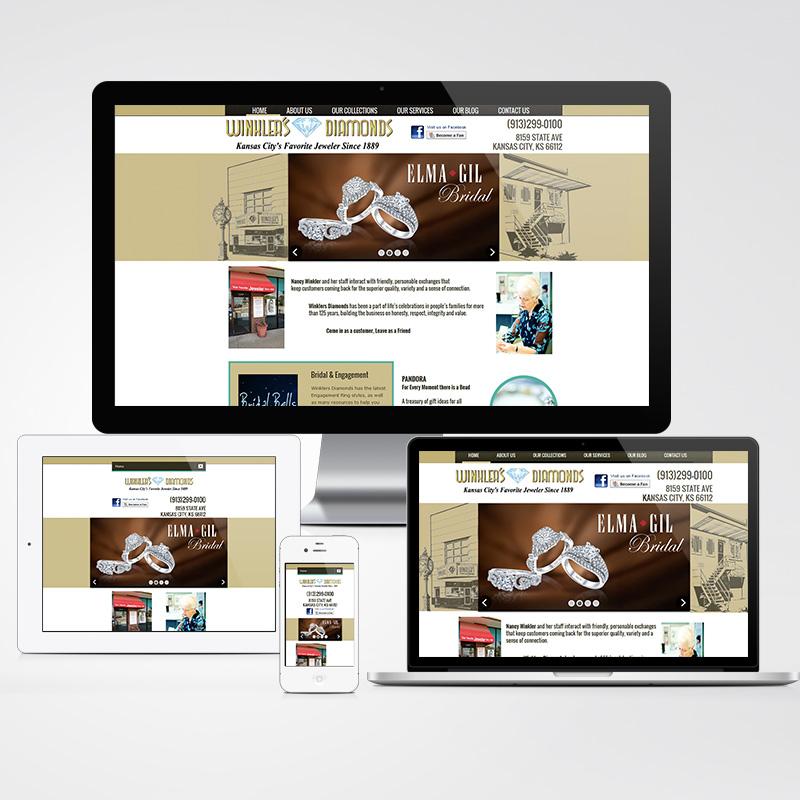 winkler 39 s jewelry store website design rob j scott. Black Bedroom Furniture Sets. Home Design Ideas